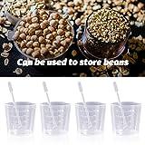 Lvcky 20 Stück 60 ml transparente Polypropylen-Plastikbecher mit 20 Rührstäben zum Mischen von Farbe, Flecken, Epoxidharz - 5