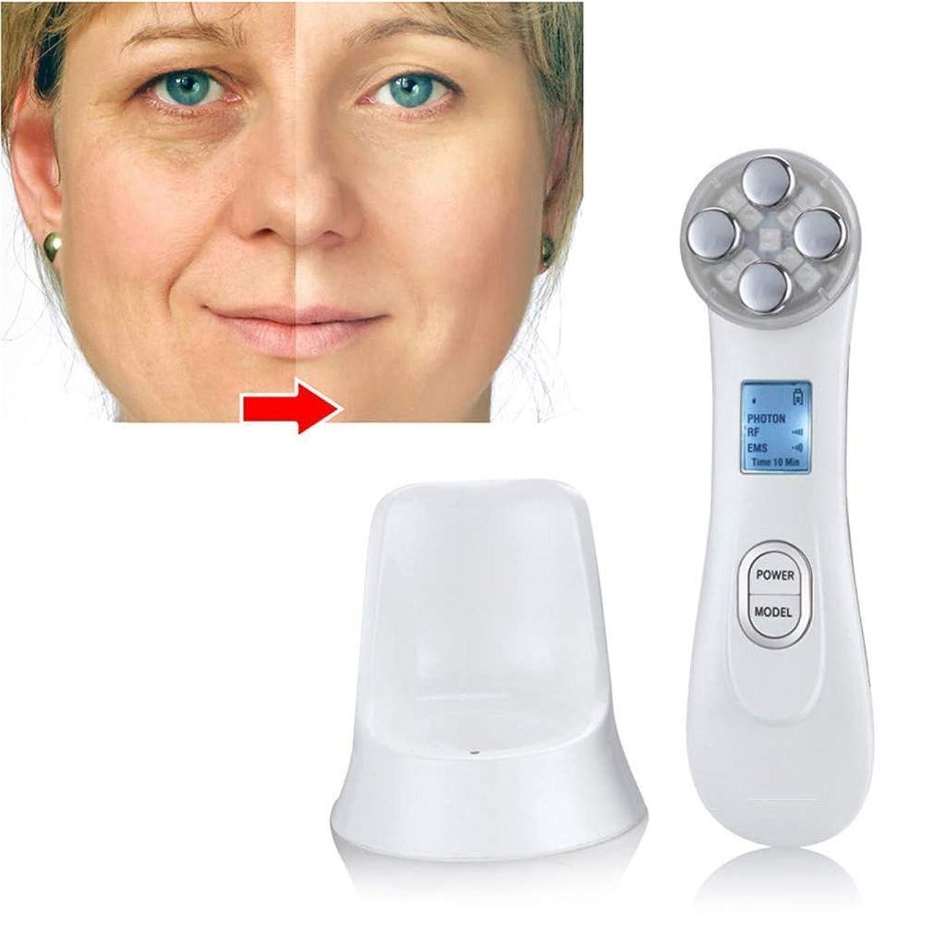 過敏な危険を冒しますに向かってしわの除去剤機械/ 5持ち上がるための美装置をきつく締める1Facial皮に付きRF&EMS 6色ライトモード美装置