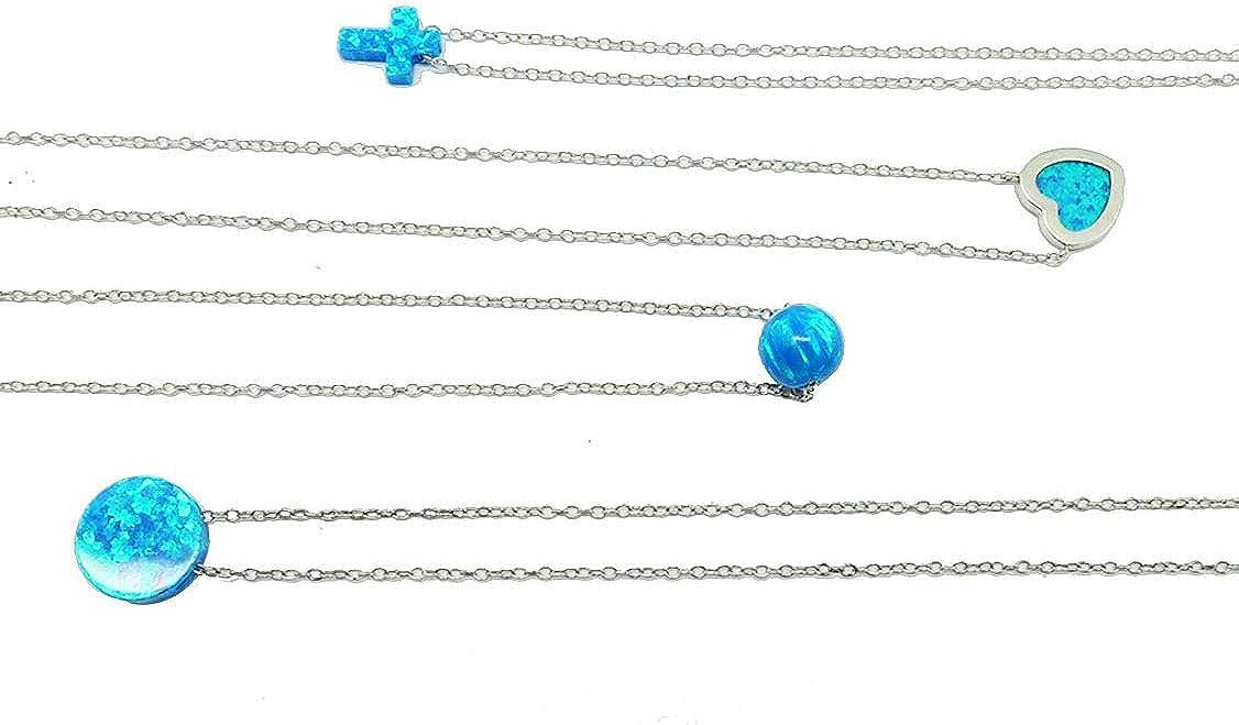 JOYSTONE Cross Heart Planet Sun Silver Dainty Clavicle Necklace Platinum Clad