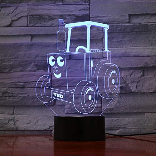 LPHMMD Nacht Licht Nachtlampje LED Locomotief 3D Illusie Kinderen Trein Spoorlijn Motor Lamp Slaapkamer Gadget