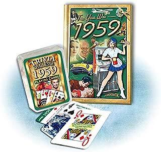 Flickback Media, Inc. 1959 Mini-Book & 1959 Trivia Playing Card Combo, Happy 60th Birthday