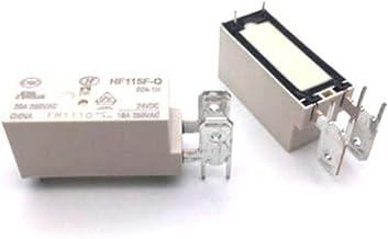 10Pcs HF115F-Q-024-1H JQX-115F-Q JQX-115F-Q-024-1H 024-1H 24VDC Normally Open Relay 18A 250VAC