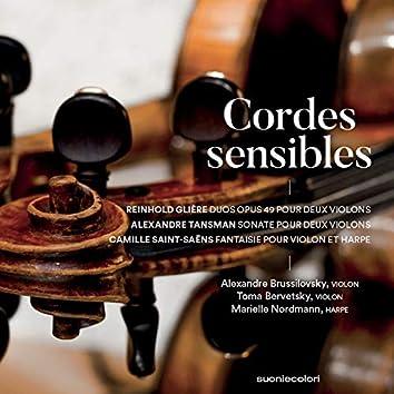 Cordes sensibles - Glière, Tansman, Saint-Saëns