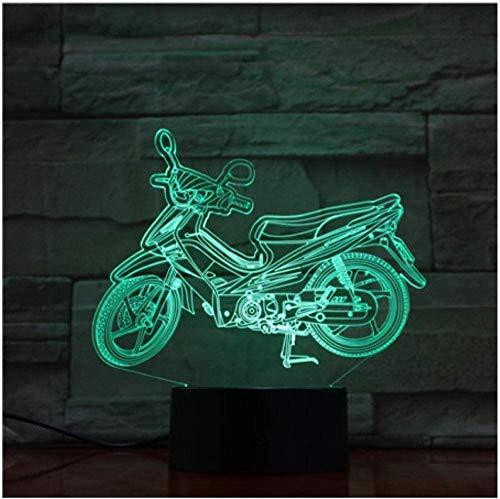 3D Illusie Nachtlampje Baby 2019 Bromfiets Elektrische Motorfiets Auto Tyling 3D Lamp Illusie Nachtlampje LED Lamp, Multi-Color Touch USB Base Lava RGB Verlichting Gift