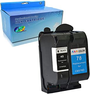 Lic-Store Remanufactured Ink Cartridge Replacement for HP 45 HP 78 Ink Cartridges Used for Deskjet 1000Cse 1100 1220C/PS 1600 6122 710 720 782 815 820 830 850 870 880 890 895 930 (1Black 1Color 2PK)