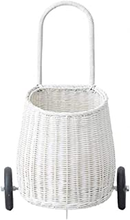 Luggage Box Handmade with Love Childs Luggy Basket Small Baby Trolley Childrens Shopping Trolley (Color : White)