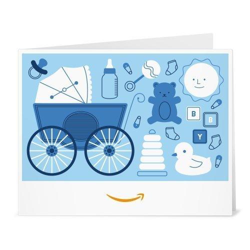 Amazon.de Gutschein zum Drucken (Baby Icons (hellblau))