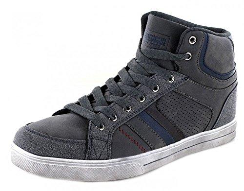 Supremo Montega Herren High Top Sneaker grau sportlich, Schuhgröße:45