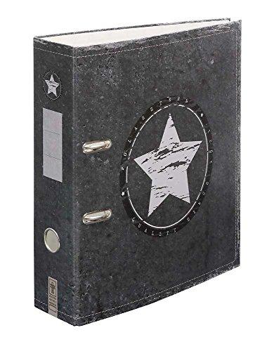 "Ordner Motiv ""Polarstern"" | DIN A4 | ca. 8 cm breit | Motivordner mit Sterne-Motiv, anthrazit - Schreibgefühl®"