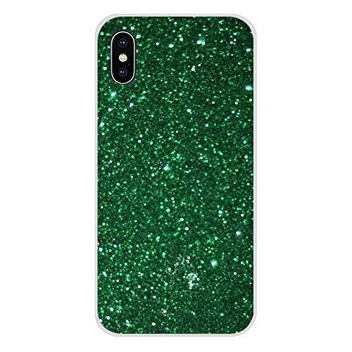 XMCJ Hermosas fundas transparentes para Samsung Galaxy S2, S3, S4, S5 Mini, S6, S7 Edge, S8, S9, S10E Lite Plus, color verde esmeralda