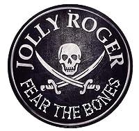 海賊旗 ジョリーロジャー JOLLY ROGE ラウンド 円形 アメリカンブリキ看板