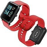 Th-some Correa para Amazfit GTS Impermeable Universal - Reemplazo de Pulsera Ajustable para Xiaomi Huami Amazfit Bip/Amazfit Bip bit Lite Youth/Amazfit GTR 42mm Watch, Sin Tracker (Rojo)