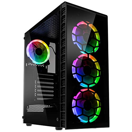 KOLINK Observatory Lite RGB Midi-Tower - PC-Gehäuse - Tempered Glass - schwarz