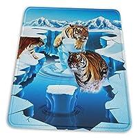 マウスパッド 虎 氷河北極 ゲーミングマウスパット デスクマット 最適 高級感 おしゃれ 滑り止めゴム底 防水設計 複数サイズ