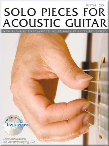 Solo Pieces for Acoustic Guitar - Gitarrenoten mit CD [Musiknoten]