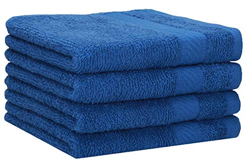 Betz Paquete de 4 Toallas de Ducha Palermo 100% algodón 70x140 cm Toallas de baño Deporte Color Azul