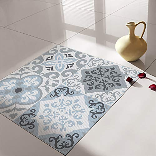Alwayspon Vinilo adhesivo para pared de suelo, impermeable, antideslizante, para cocina, baño, autoadhesivo, PVC, decoración del hogar, 30 x 30 cm, 4 unidades
