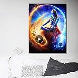 Danjiao Dekoration Wandkunst Leinwand Poster Und Druck Leinwand Gemälde Indische Götter Lord Shiva Bilder Für Wohnzimmer Wand Rahmenlose Wohnzimmer 60x90cm