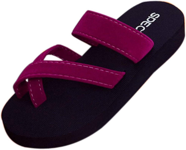 Btrada Women Summer Flower Print Flip Flops Sandals Ladies Flats shoes Beach Open Toe Casual Slippers