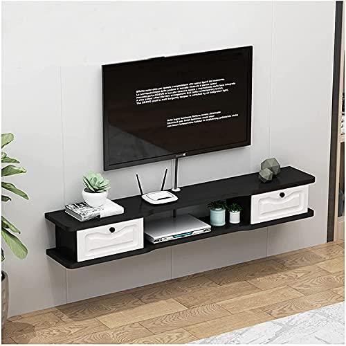 DRAGDS Mueble de Televisión de la Consola de Medios, Gabinete Montado en la Pared, Adecuado para Sala de Estar, Dormitorio, Oficina, Sala de Juegos, Estilo Moderno/C / 120 × 24 × 20Cm,C,120 × 24 ×