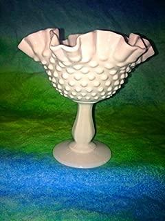 Fenton Tall Pedestal Bowl Hobnail Dish Circa 1930's