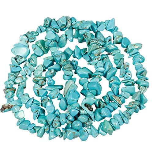 mookaitedecor - Perlas de Piedra Granel, pequeñas, Piedras pulidas irregularmente para Bricolaje, Collar curación y fabricación de Joyas, Dentelle Bleue