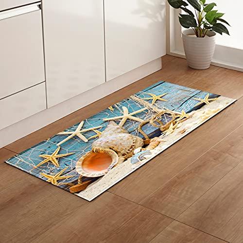 Playa Impresión escénica Hogar Felpudo Pasillo Sala de Estar Tapetes Alfombra Decoración Alfombras de baño Alfombra de Cocina Alfombra de Piso A22 40x60cm