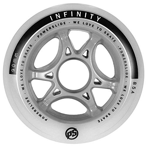 Powerslide 90mm 85a Infinity II Speedrolle klar-grau weiß, 90 mm