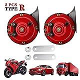 Aderiq Train Horns for Trucks 300db, Tape R Loud Air Electric Snail Horn, 12V Waterproof Train Horns Kit Super...
