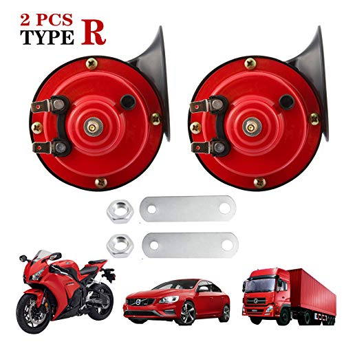 2021NEWEST Train Horns for Trucks 300db, TAPE R Loud Air Electric Snail Horn, 12V Waterproof Train...