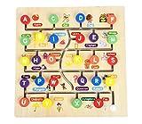 Número y Letra del Rompecabezas de Madera para niños, Tablero de Agarre cognitivo para Caminar, Juguete de Madera para educación temprana, Rompecabezas para bebés (Carta)