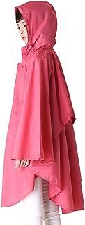 PENGFEI レインコートポンチョ 隠す ロングトレンチコート ビーチサンスクリーン 通気性のある 快適 純粋な色、 3色 (色 : Red, サイズさいず : L l)
