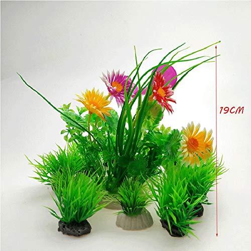 SPLAN Künstliche Wasserpflanzen, 6 PC-Aquarium Pflanzen Kunststoff Aquarium Dekorationen, Vivid Simulation Pflanze Creature Aquarium Landschaft (Farbe : F)