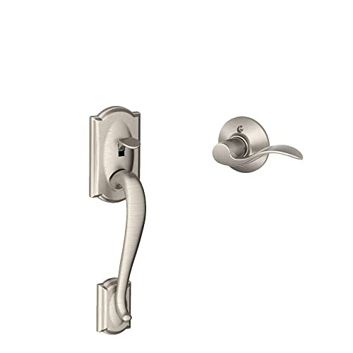 Camelot Front Entry Handle Accent Left Handed Interior Lever (Satin Nickel)  FE285 CAM