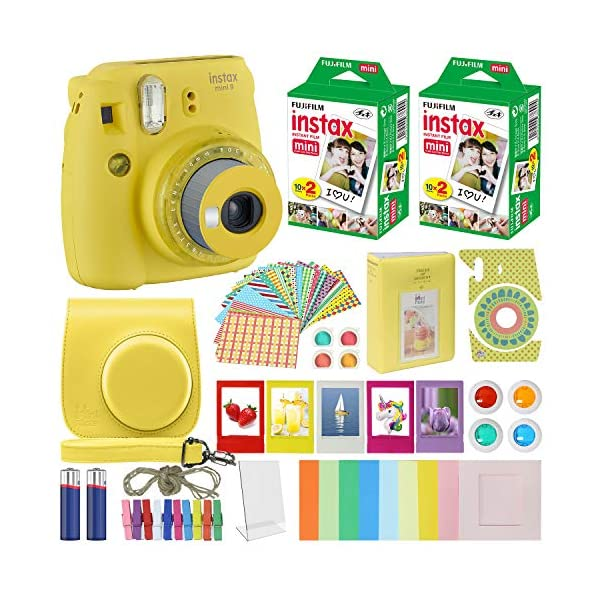 Fujifilm Instax Mini 9 – Instant Camera with Carrying Case + Fuji Instax Film...