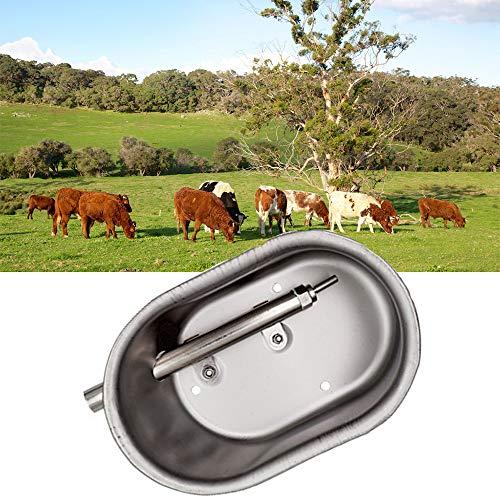 WHR-HARP Comederos para Caballos, Acero Inoxidable Cuenco Waterer Automático para Ovejas, Cabras, Lechones, Suministros para Ganado de Granja de Caballos Pequeños,Small