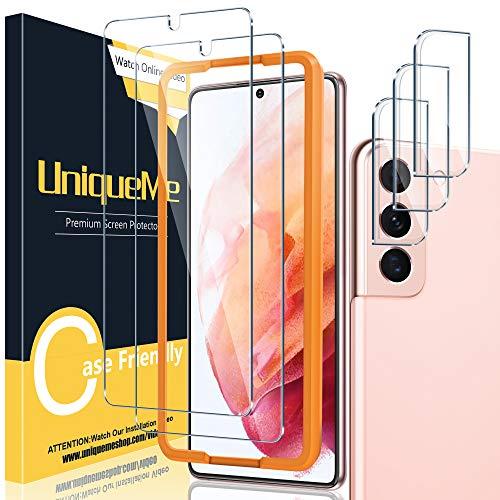 UniqueMe Tempered Glass + Camera Lens Protector