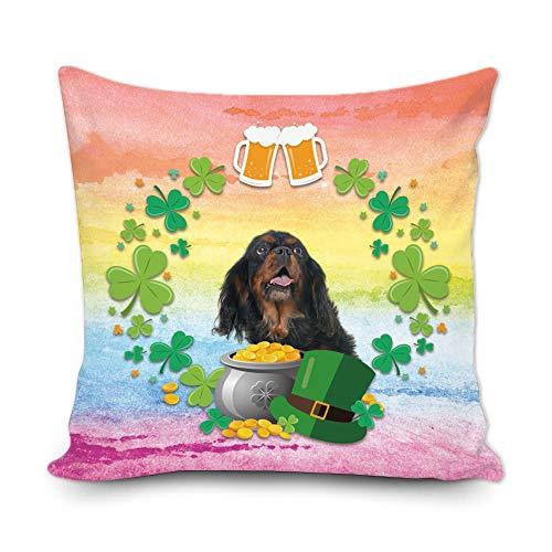 Bageyou - Federa decorativa per cuscino con motivo trifoglio di trifoglio verde con scritta 'My Love...