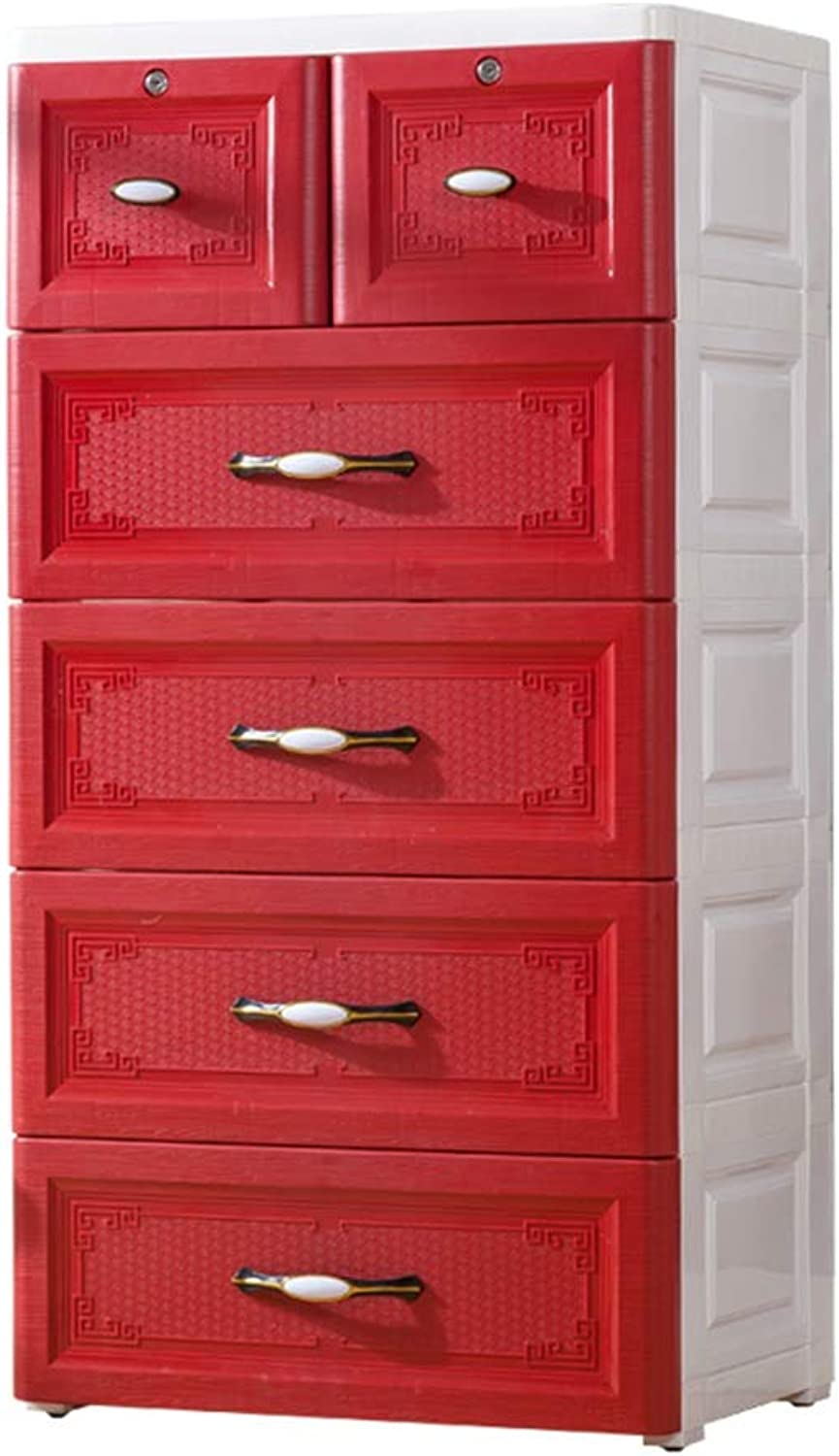 Z-Forcer Durable Drawer Type Chest Of Drawers, Plastic Multi-layer Clothes Sundries Finishing Cabinet Hall Storage Box, 58  40  113.5CM Multifunction (color   A)