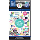 me & my BIG ideas Sticker Value Pack for Mini Planner - The Happy Planner Scrapbooking Supplies - Faith Theme - Multi-Color & Gold Foil - Great for Projects & Albums - 30 Sheets, 994 Stickers Total