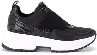 Michael Kors Woman's Sneaker Cosmo in Pelle Nera Con Stampa Pitonata