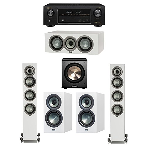 Discover Bargain ELAC Uni-Fi Slim White 5.1 System with 2 ELAC FS-U5 Floorstanding Speakers, 1 ELAC ...
