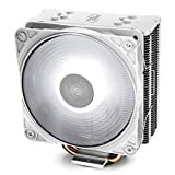 DEEP COOL GAMMAXX GTE V2 WH, Ventilateur de Processeur PC, 4 Caloducs, Ventilateur 120mm PWM LED Blanc, Intel & AMD