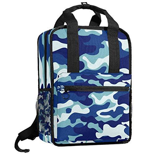 Mochila de viaje para ordenador o estudiante, bolso de mano informal, regalo para hombres y mujeres, textura de camuflaje bosque