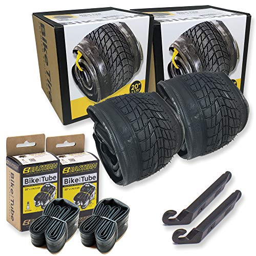20 Inch Bike Tire Packages for Kids and BMX Tires. Fits 20x1.75 Bike Tube , Tire, Rims, Front or Rear Wheels. Includes Tire Tools. With or Without Tubes. 1 Pack or 2 Pack. (2 Tires - With Tubes)