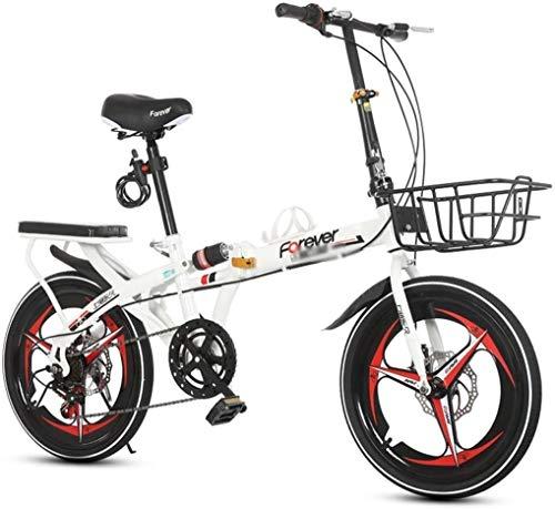 Xiaoyue Fahrräder for Kinder Faltrad Außen Wohnmobil Studenten Geschwindigkeit Mountainbike Außen Racing Buggy 16 Zoll 20 Zoll Shift-Scheibenbremse Fahrrad (Farbe: Rot, Größe: 20inches) lalay