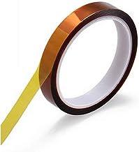 MeetRade 1 Rollen 12mm X 100FT Hittebestendige Tape Hoge Temperatuur Tape Heat Press Tape Polyimide Zelfklevende Sublimati...