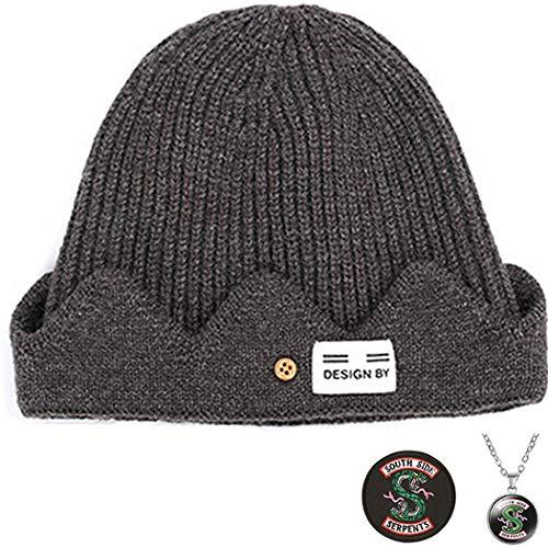 TOOBIT Jughead Jones Beanie Hat Riverdale Merchandise Riverdale TV Movie Adulto Disfraz Cosplay Beanie Hat - Sombrero de punto de invierno para hombres y mujeres - Marrón