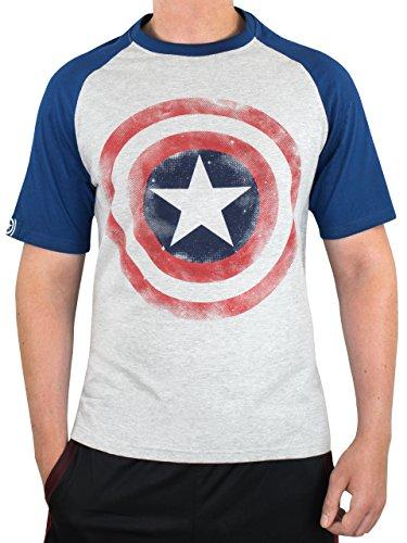 Marvel Avengers Camiseta para Hombre Capitan America Gris XX-Large