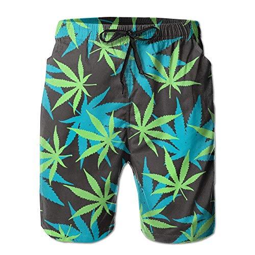 surce mannen meisje marihuana gras tekenen zomer vakantie zwemmen Trunks strand Shorts Tooling Shorts